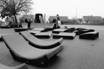 Set up of the portable pump track