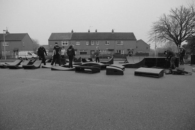 Portable pump track street sport aberdeen Stravaiging northfield aberdeen 3