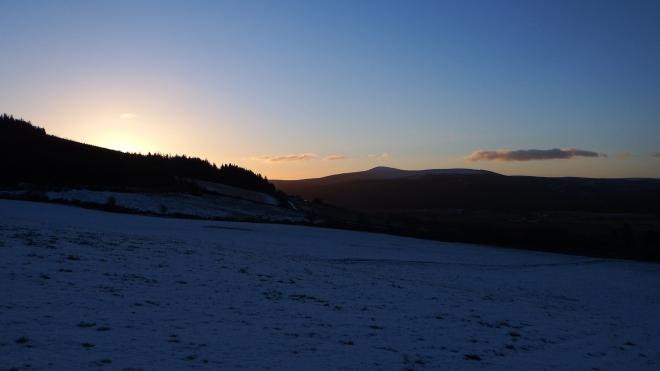 Dawn Raid Sermon Church Stravaiging Clachnaben Aberdeenshire Snow 4