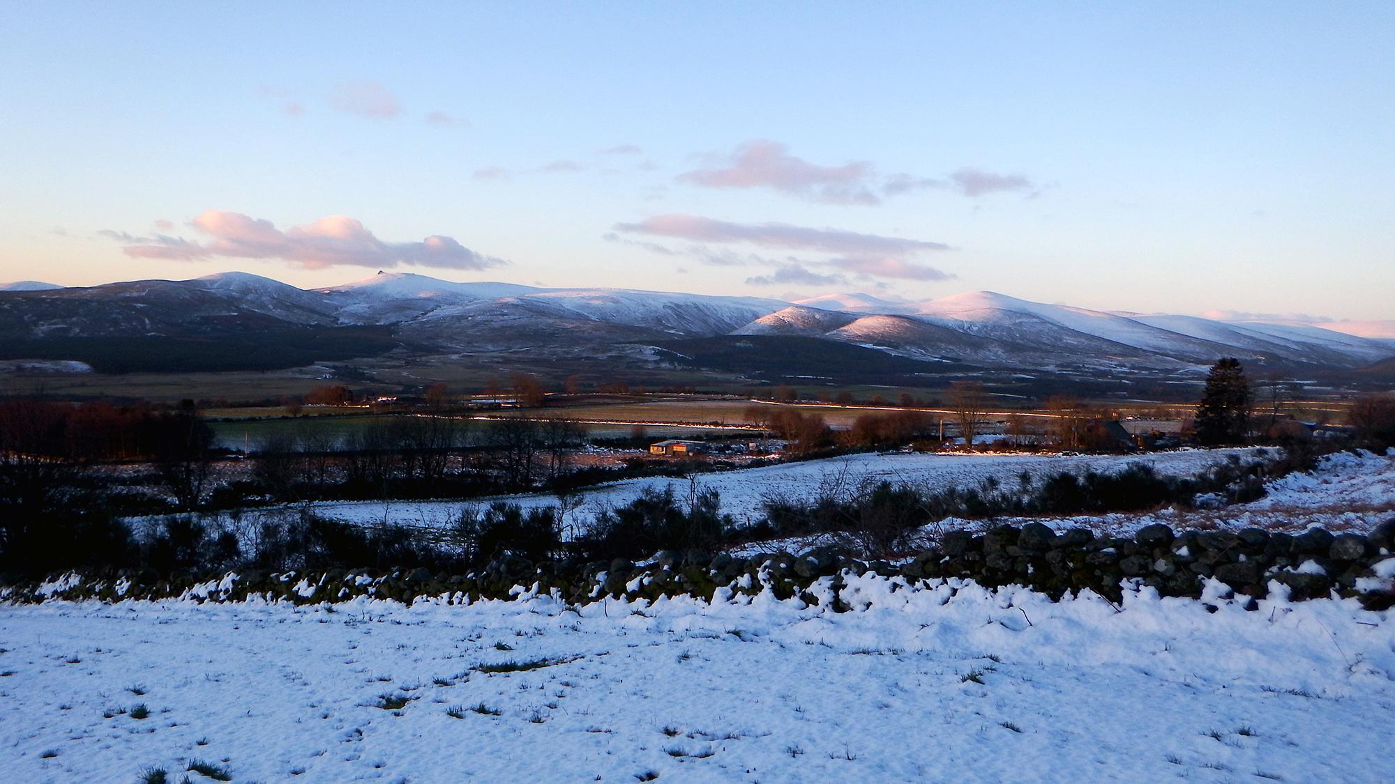 Dawn Raid Sermon Church Stravaiging Clachnaben Aberdeenshire Snow 6