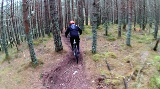 Follow the leader Christ almighty Enduro Downhill Mountain Bike Winter Riding Aviemore