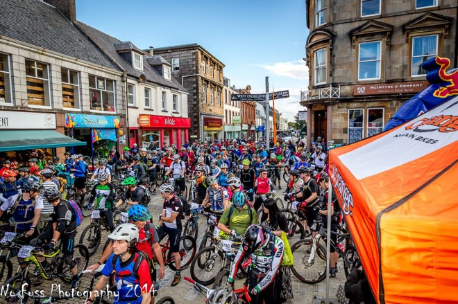 Ready for the off Tour De Ben Nevis 2014 Race Fort William