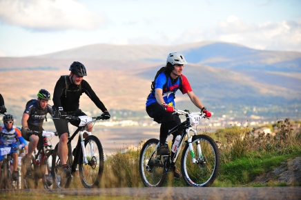 Tour De Ben Nevis 2014 climb out of Fort William