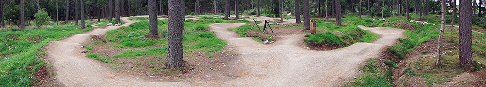 pump track Tarland Trails Mountain bike