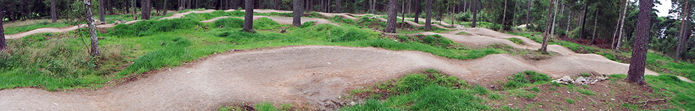 Tarland Trails Pump track mtb stravaiging