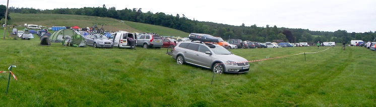 Cream o The Croft Carpark and camp site Muckmedden