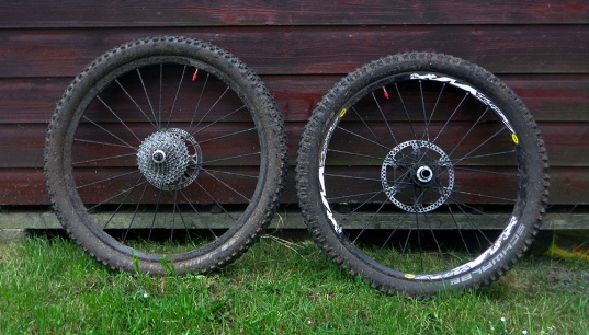 Wheels away from over spray