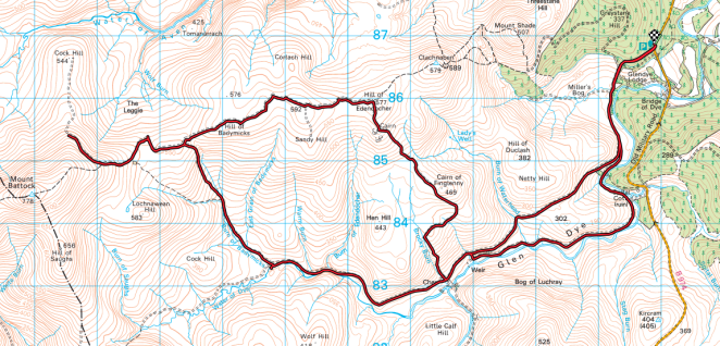 Glen Dye to Mount Battock Mountain Bike