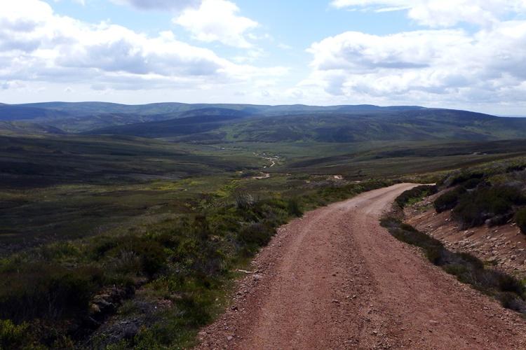 Mount Battock Climb out of Glen Dye Mountain Bike