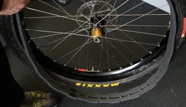 Home made tyre insert install 1 Stravaiging