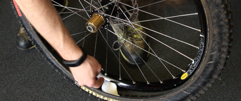 Home made tyre insert install 2 Stravaiging