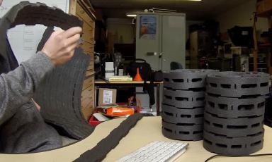 Home made tyre insert lazer cut Stravaiging